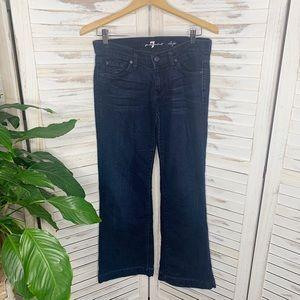 7 for ALL MANKIND Women's DOJO Jeans Dark Wash 27
